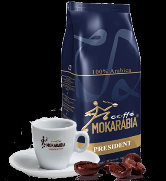 Mokarabia President Espresso Kaffee 1kg Bohnen