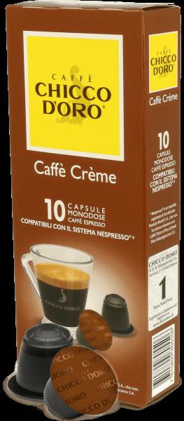 Chicco dOro Caffè Crème - Nespresso® kompatibel - 10 Kapseln
