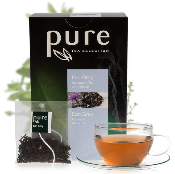 Tchibo Pure Tee Blumig Frischer Earl Grey 25 Beutel, Tea Selection