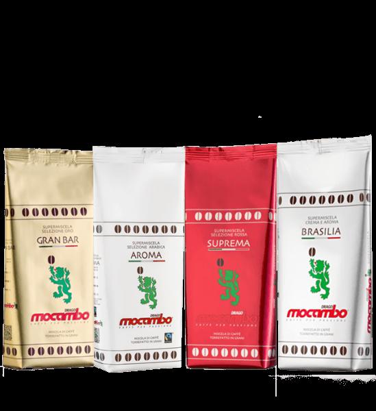 Mocambo Probierpaket 4 x 250 Gramm Bohnen