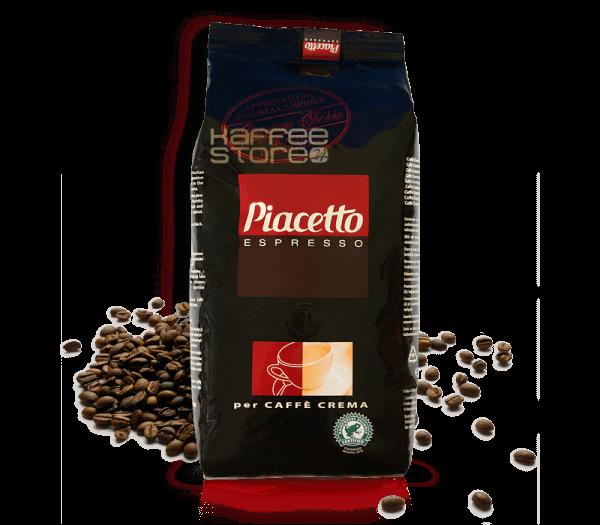 Piacetto Crema Espresso Kaffee 1000 Gramm Bohnen