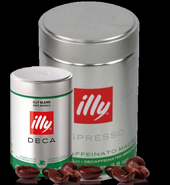 Illy - Entkoffeiniert - gemahlener Espresso - 250 Gramm