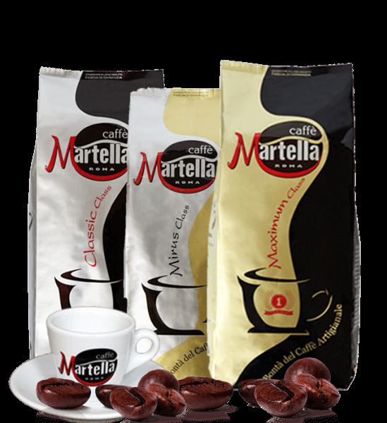 Martella Caffe Probierpaket Espresso Kaffee 3 x 1000 Gramm Bohnen