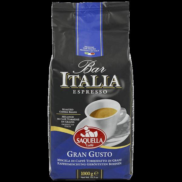 Saquella Espresso Bar Italia Gran Gusto 1kg Bohnen
