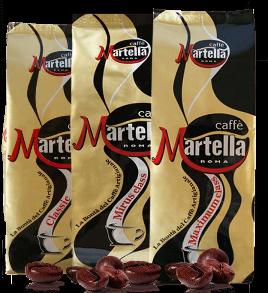 Martella Caffe Probierpaket Espresso Kaffee 3 x 250 Gramm Bohnen