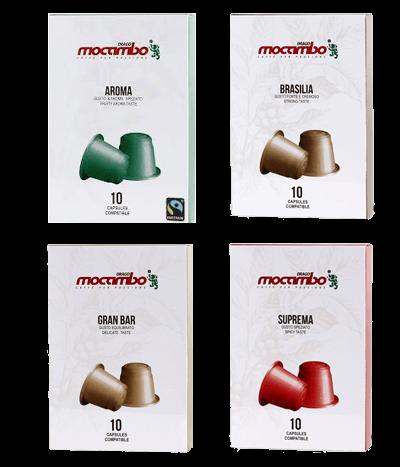 Probierpaket Mocambo Kapseln Nespresso® kompatibel - 40 Stk