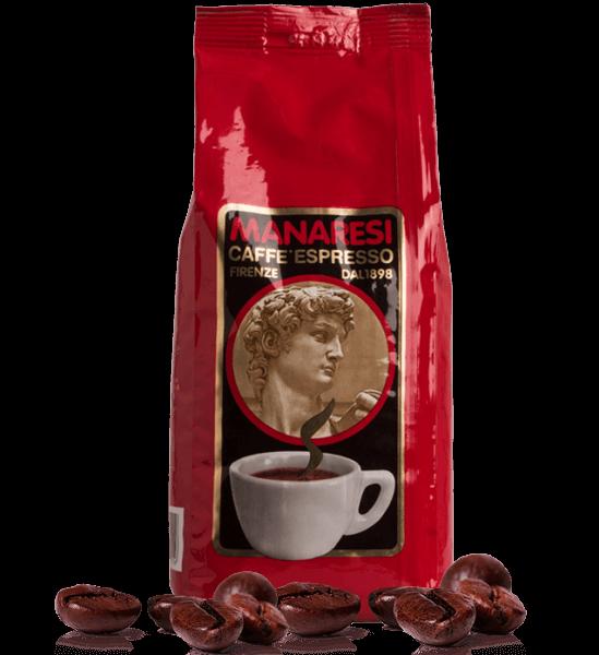 Manaresi Rosso - Espresso Kaffee, 1kg Bohnen