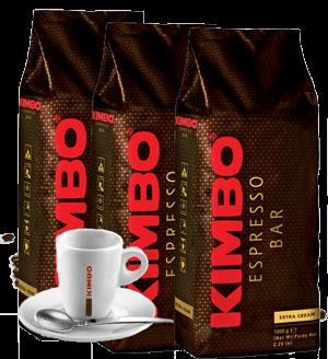 Kimbo Kaffee 3x1000g Espresso Bohnen fürs Büro