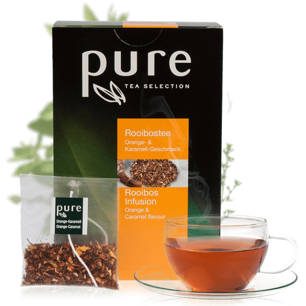 Tchibo Pure Tee Tea Selection Rooibos Orange Karamell 25 Beutel