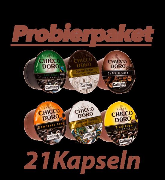 Chicco dOro Caffe Kapseln, Probierpaket 21 Kapseln