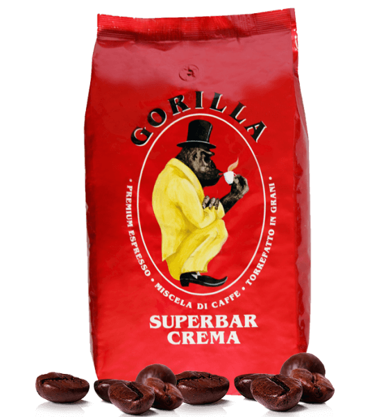 Gorilla Super Bar Crema - Kaffee Espresso 1kg Bohnen