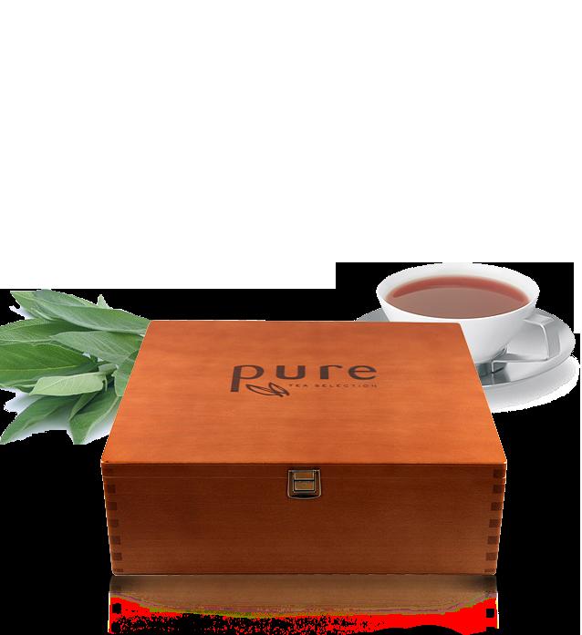 tchibo pure tee tea selection holz tee box f r 8 teesorten. Black Bedroom Furniture Sets. Home Design Ideas