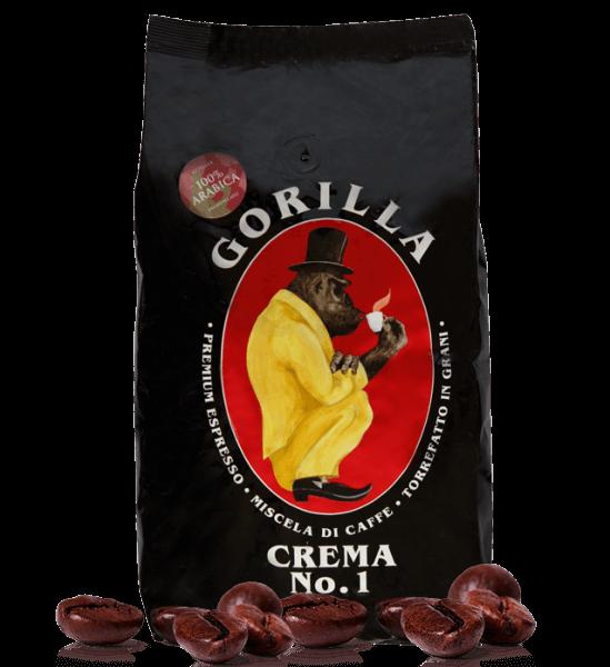 Gorilla Crema No.1 - Kaffee Espresso, 1kg Bohnen