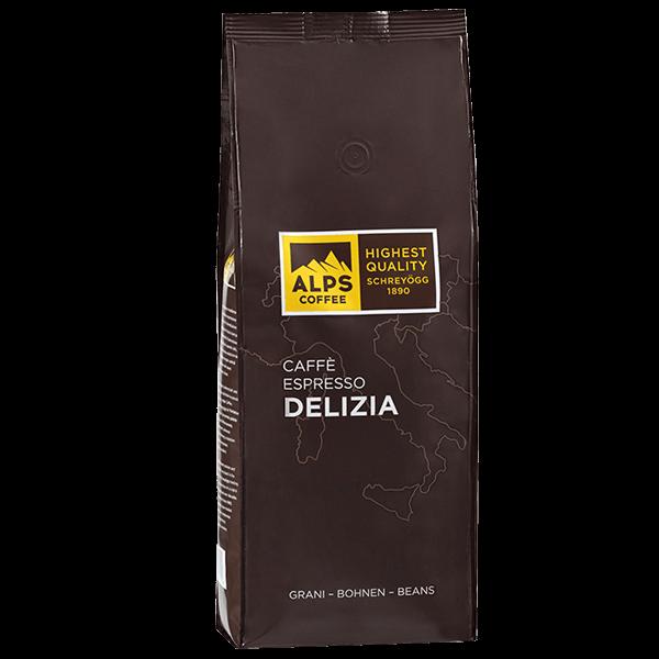ALPS Coffee - Schreyögg Delizia Espresso Kaffee 1000 Gramm Bohnen