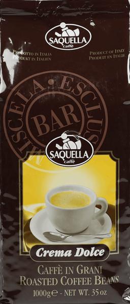 Saquella Crema Dolce Bar 1kg Bohnen