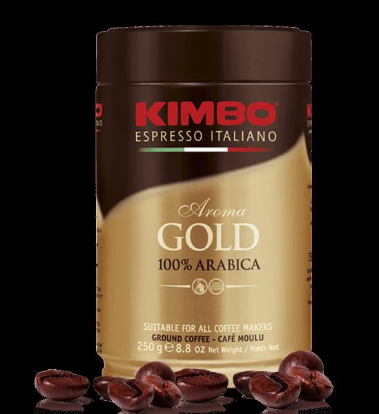 Kimbo Arabica, 250 Gramm Kaffee gemahlen Dose