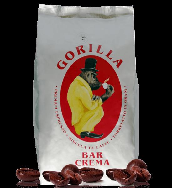 Gorilla Bar Crema - Kaffee Espresso, 1kg Bohnen
