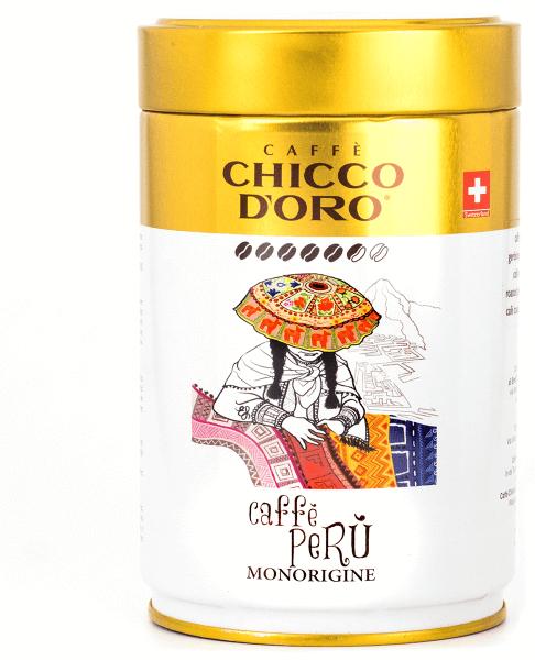 Chicco d'Oro Peru Dose 250g, ganze Bohnen