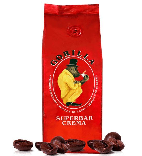 Gorilla Super Bar Crema - Kaffee Espresso 250g Bohnen