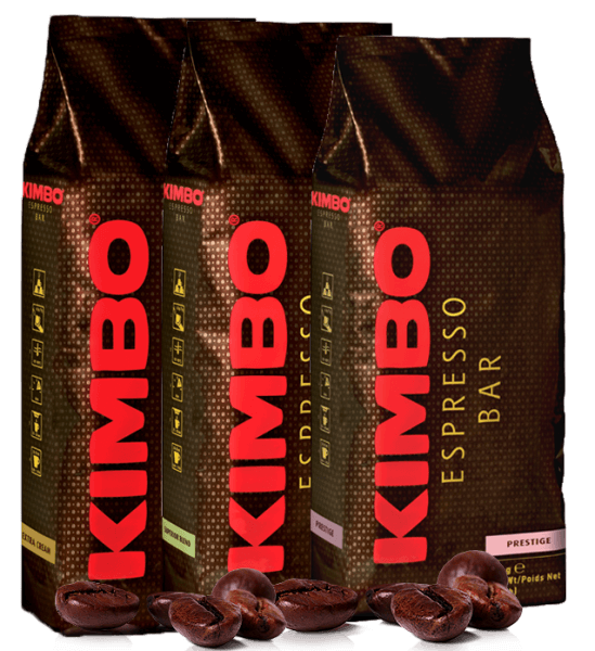 Kimbo Kaffee - Espresso Bohnen Probierpaket 3 x 1kg