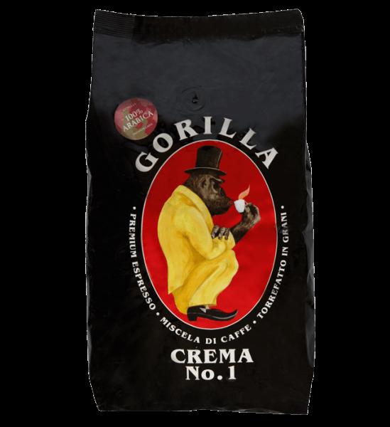 Gorilla Crema No.1 1kg Bohnen