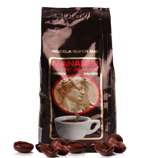 Manaresi Super Bar Marrone - Espresso Kaffee, 1kg Bohnen