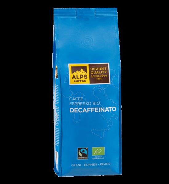 ALPS Coffee - Schreyögg Bio Espresso Kaffee Koffeinfrei 500 Gramm Bohnen